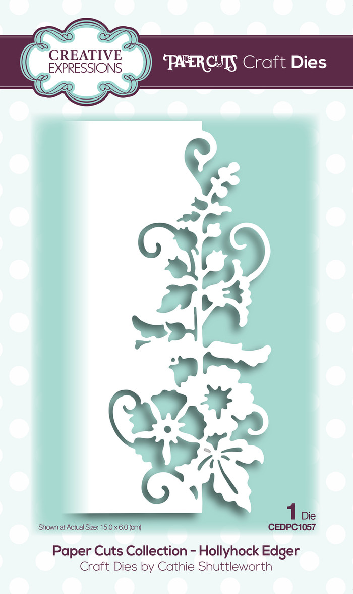 Creative Expressions Paper Cuts Collection Die - Hollyhock Edger CEDPC1057