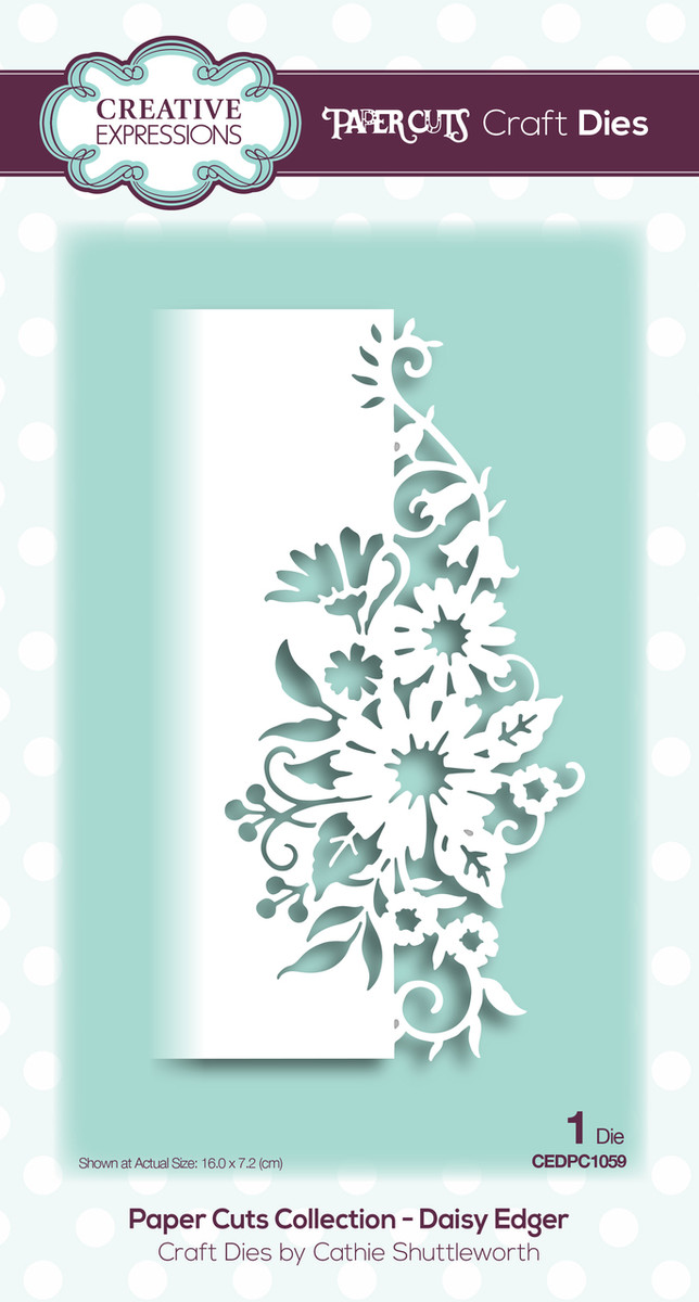 Creative Expressions Paper Cuts Collection Die - Daisy Edger CEDPC1059