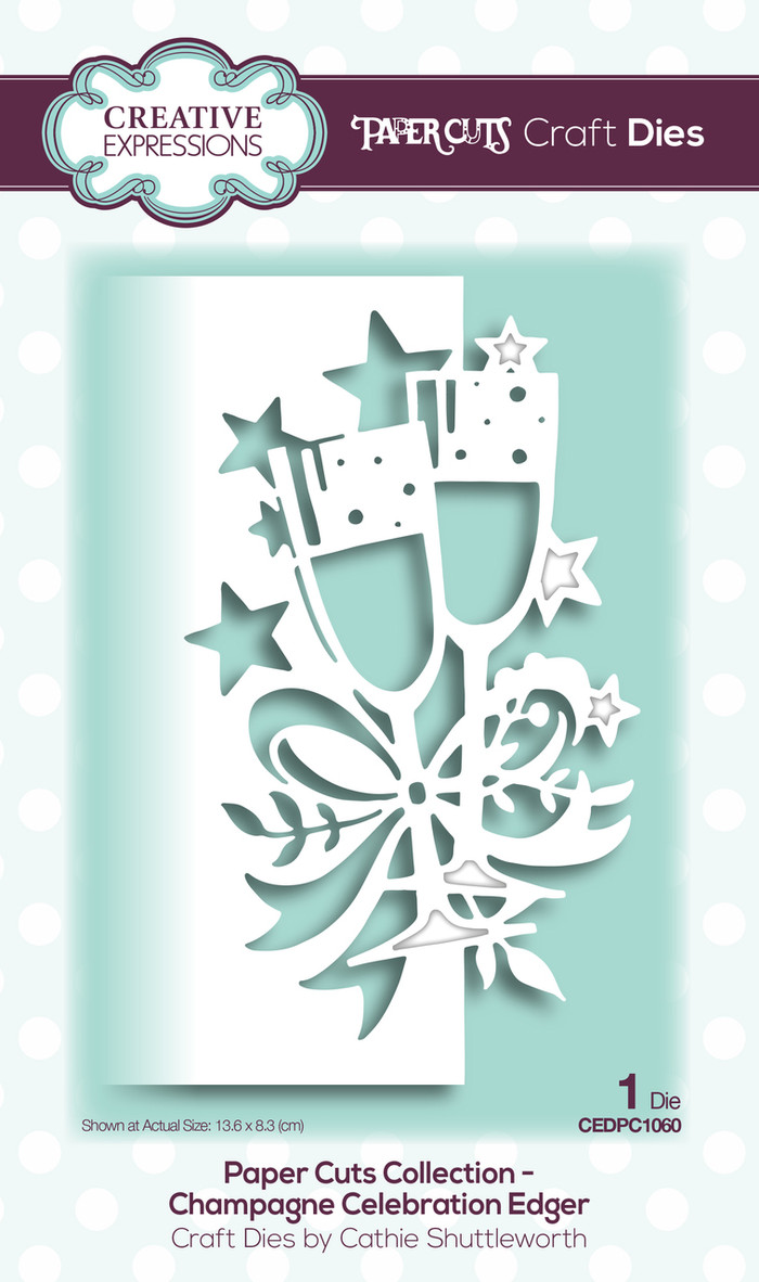 Creative Expressions Paper Cuts Collection Die - Champagne Edger CEDPC1060
