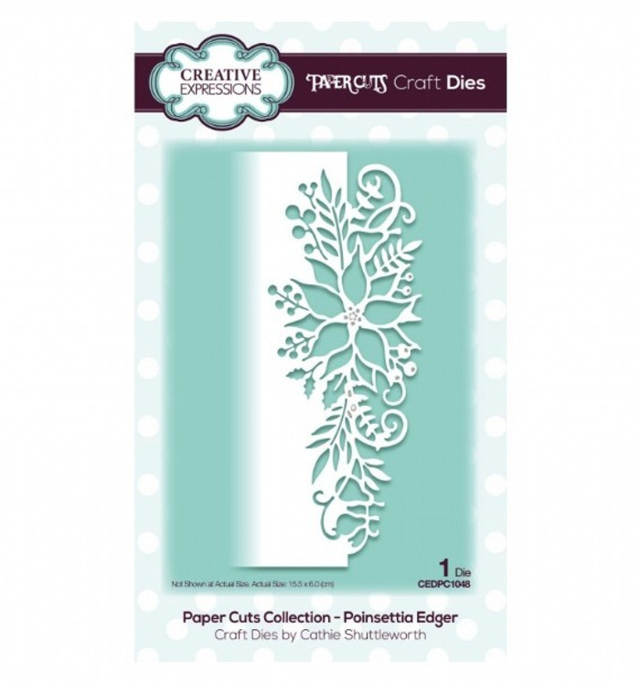 Creative Expressions Paper Cuts Collection Die - Poinsettia Edger