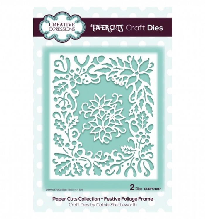 Creative Expressions Paper Cuts Collection Die - Festive Foliage Frame CEDPC1047