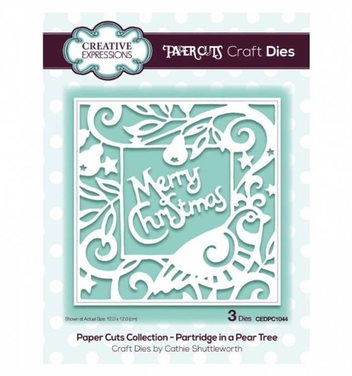 Creative Expressions Paper Cuts Collection Die - Partridge in a Pear Tree  CEDPC1044