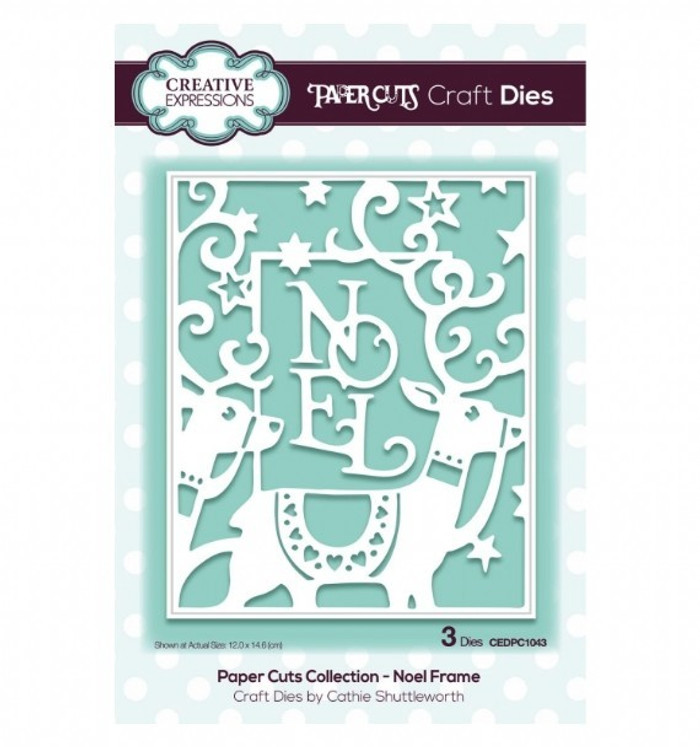 Creative Expressions Paper Cuts Collection Die - Noel Frame CEDPC1043