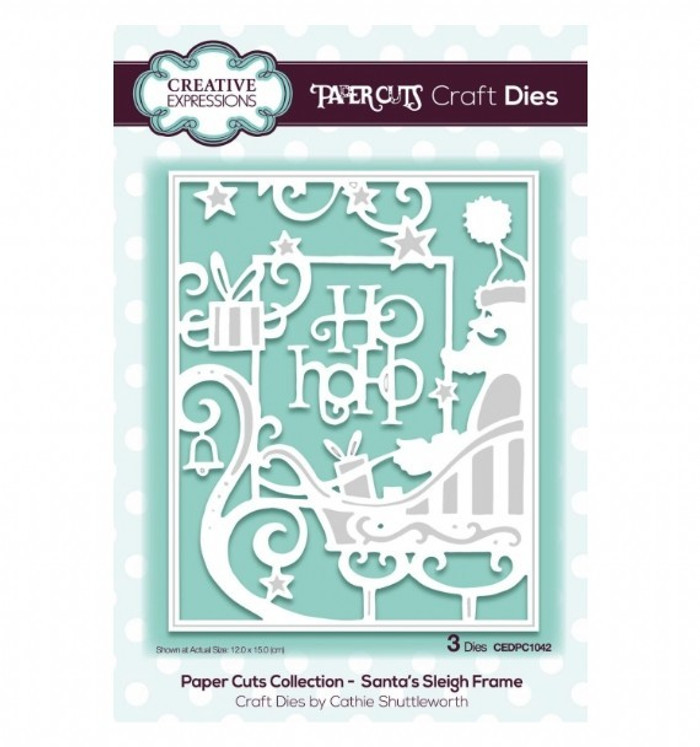 Creative Expressions Paper Cuts Collection Die - Santa's Sleigh Frame CEDPC1042
