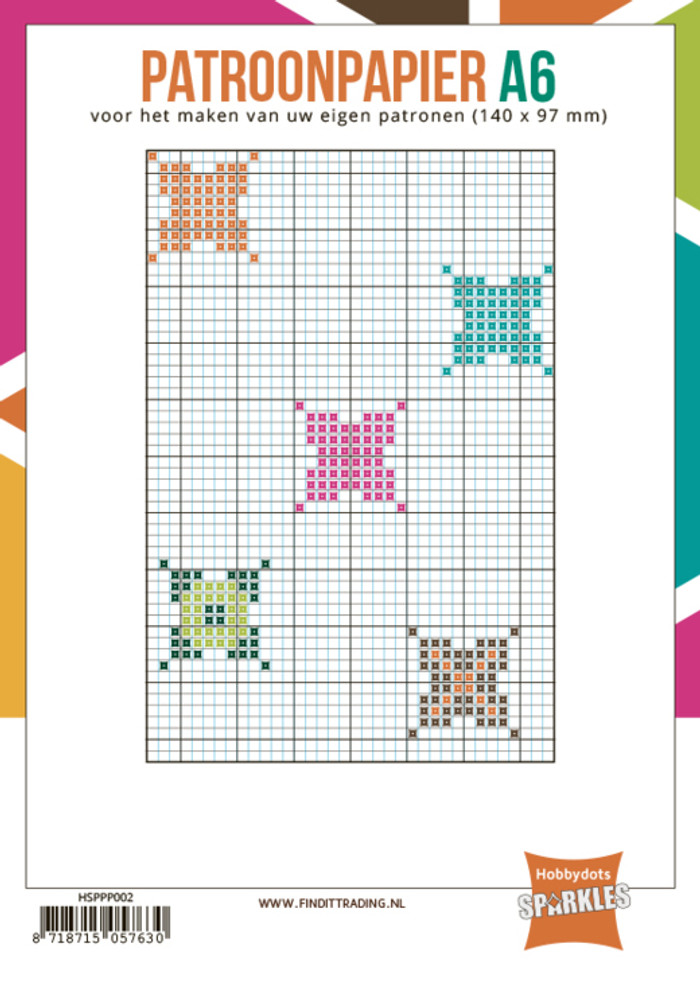Hobbydots Sparkles Pattern Grid Paper A6  - 24 sheets