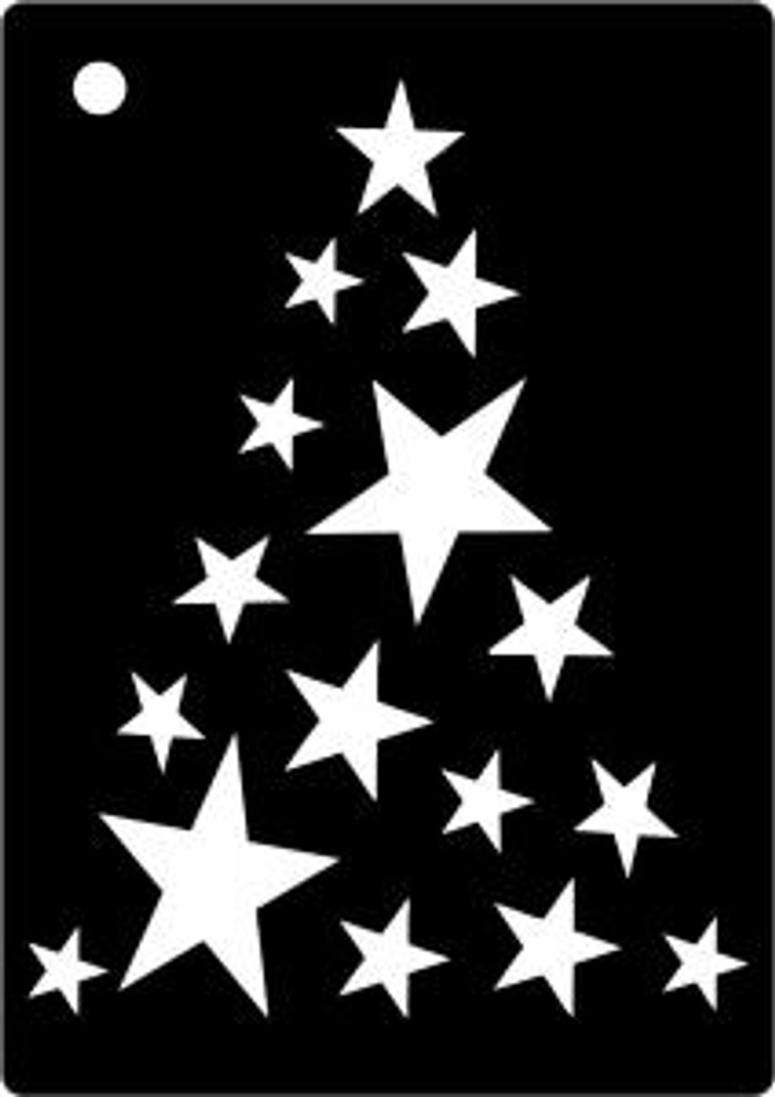 Creative Expressions Mini Stencil STAR TREE