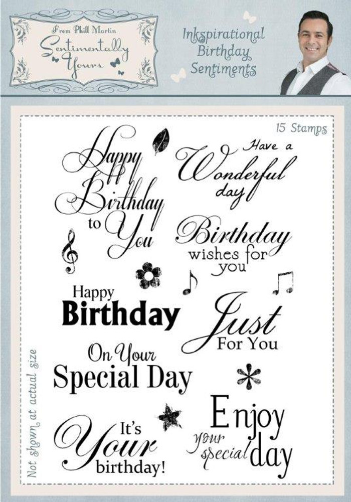 Sentimentally Yours Inkspirational Birthday Sentiments Clear Stamp Set SYIBS