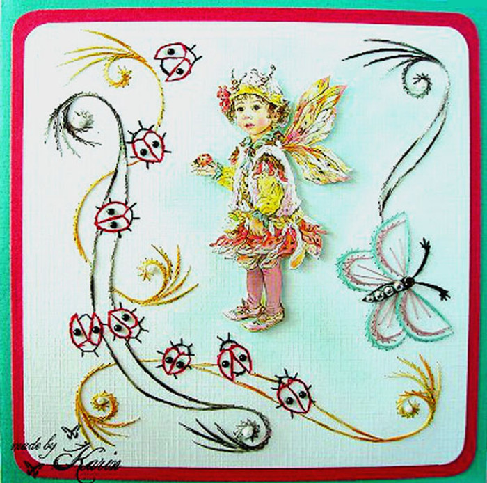 Karin's Creations Card Stitching e-Pattern - Adalia KC015e