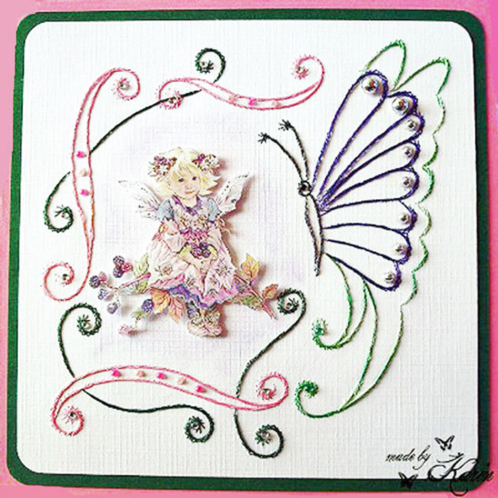 Karin's Creations  Card Stitching e-Pattern - Brambleberry KC017e