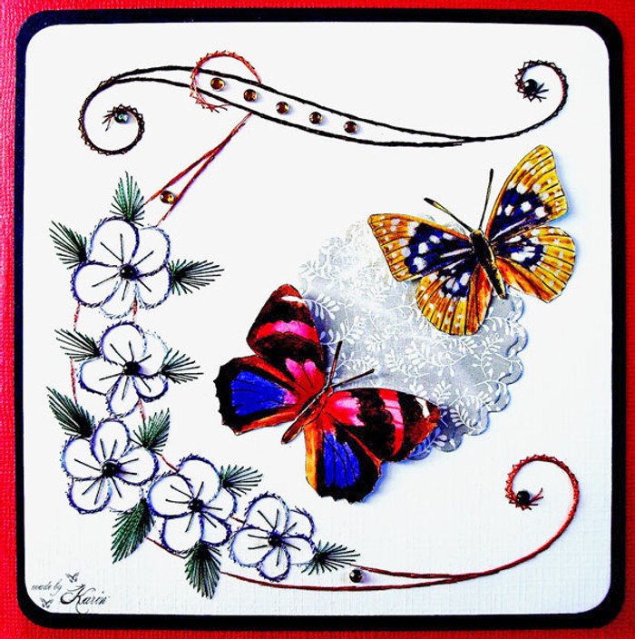 Karin's Creations Card Stitching e-Pattern - Summertime 1 KC027e