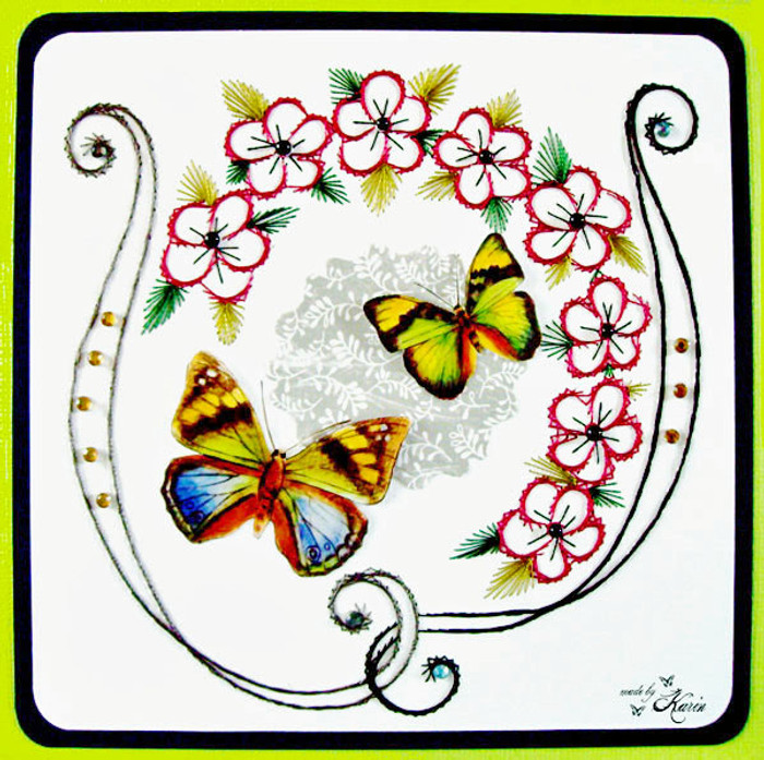 Karin's Creations Card Stitching e- Pattern - Summertime 2 KC029e