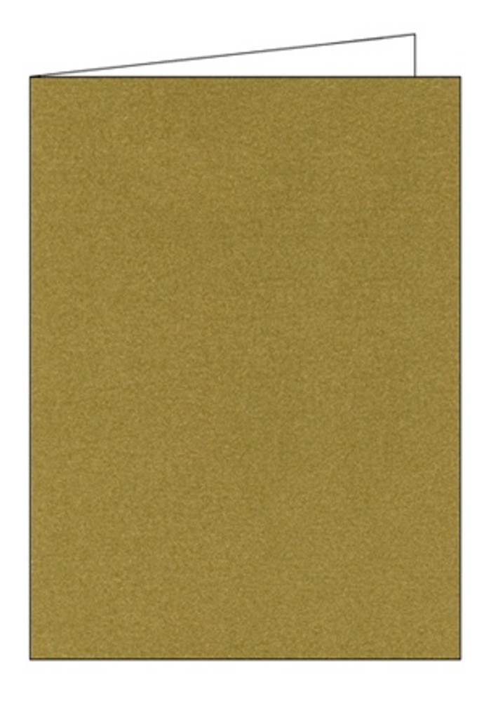 A6 (155 x 110mm) Smooth 280gsm Cards & Envelopes  - Frosted Gold Pk 5