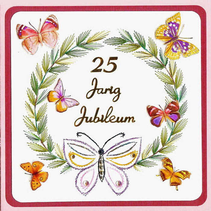 Karin's Creations Card Stitching e-Pattern - Jubilea KC034e