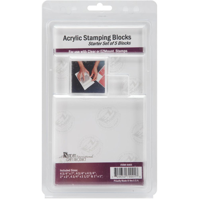 Acrylic Block Starter Set Of 5