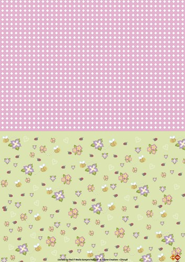 3D Sheet Yvonne Creations - Spring Time Background CD10148