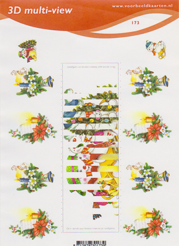 3D Cutting Sheet Multi-View A5 - Voorbeeldkaarten 173