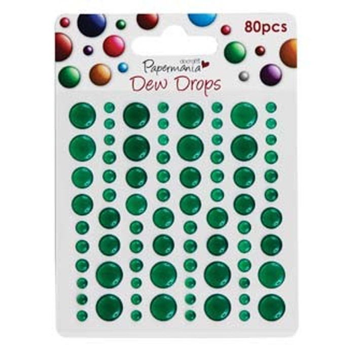 Papermania Adhesive Dew Drops - Green