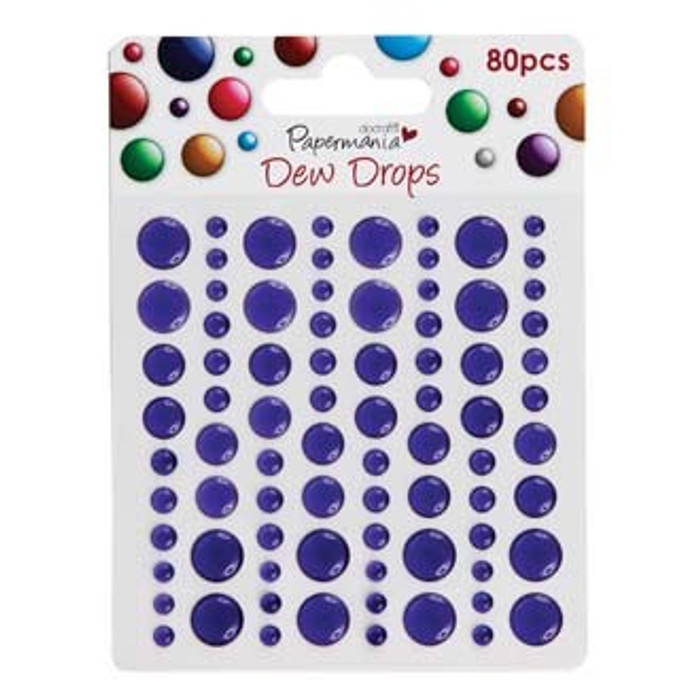 Papermania Adhesive Dew Drops - Heather