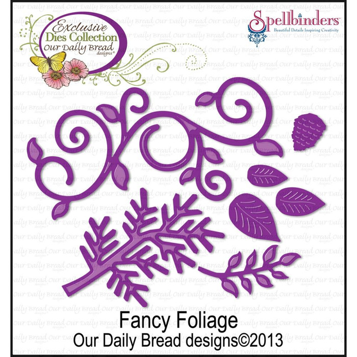 Spellbinders Our Daily Bread Dies - Fancy Foliage Dies  CSBD33