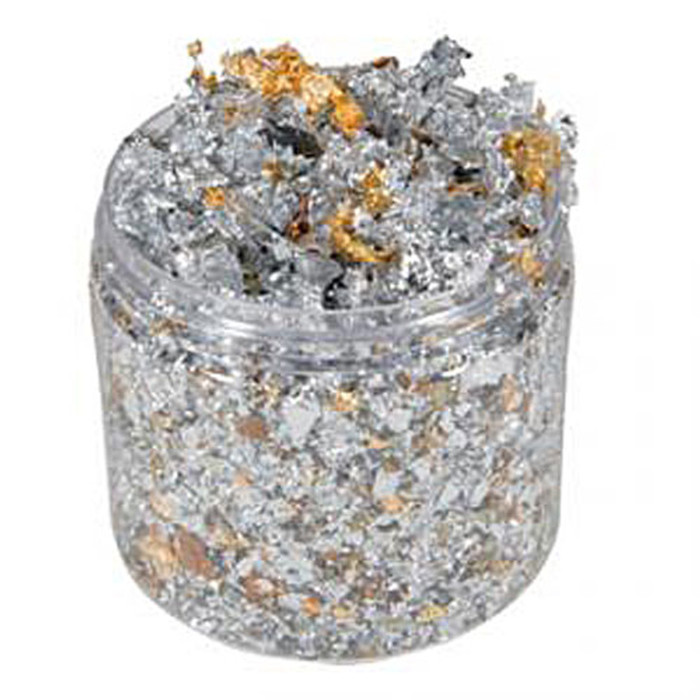Cosmic Shimmer Gilding Flakes 200ml Pot - SILVER DREAM