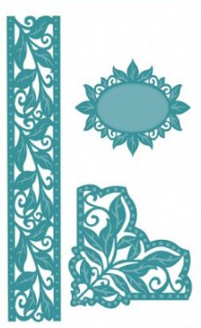 Sue Wilson The Spanish Collection - Corner, Border & Tag Die CED1202  15% Off