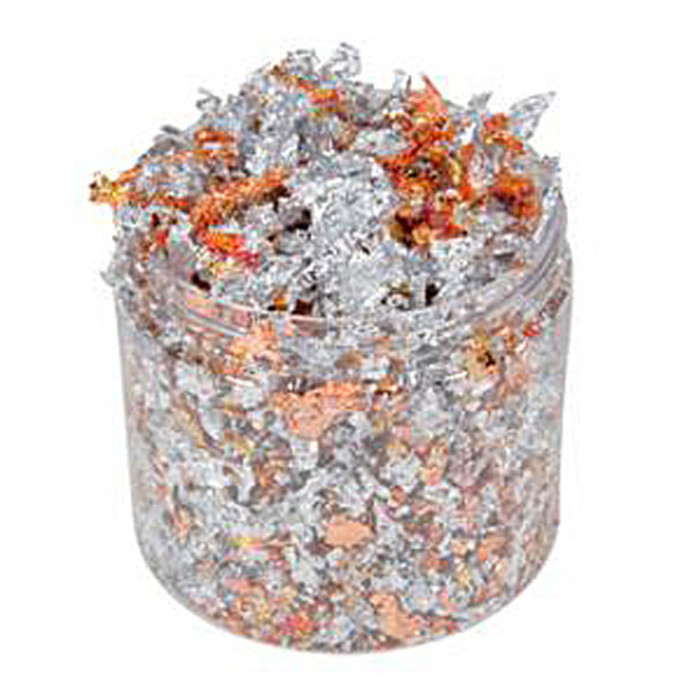 Cosmic Shimmer Gilding Flakes 200ml Pot - RED SPECKLE