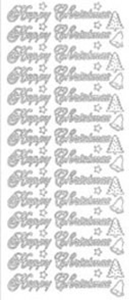 Starform Peel-Off - Happy Christmas Text 355