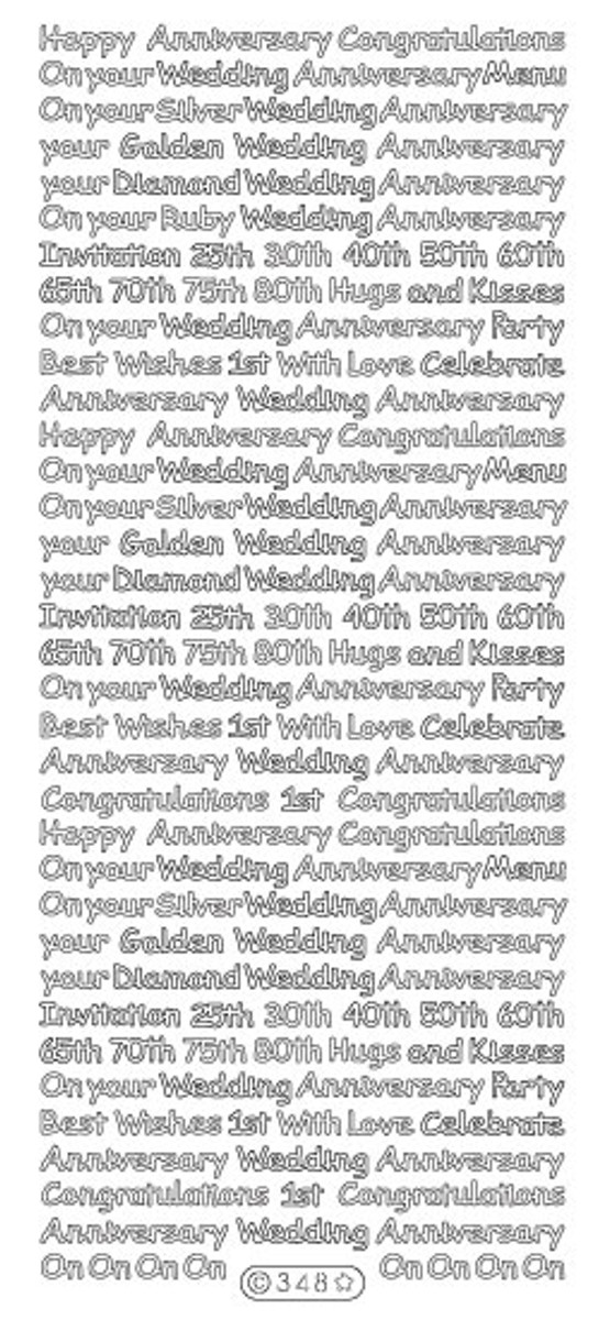 Starform Peel-Off - Anniversary Assortment SILVER 348