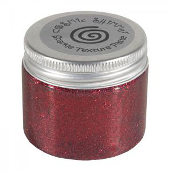 Cosmic Shimmer Sparkle Texture Paste 50ml Pot - BERRY RED