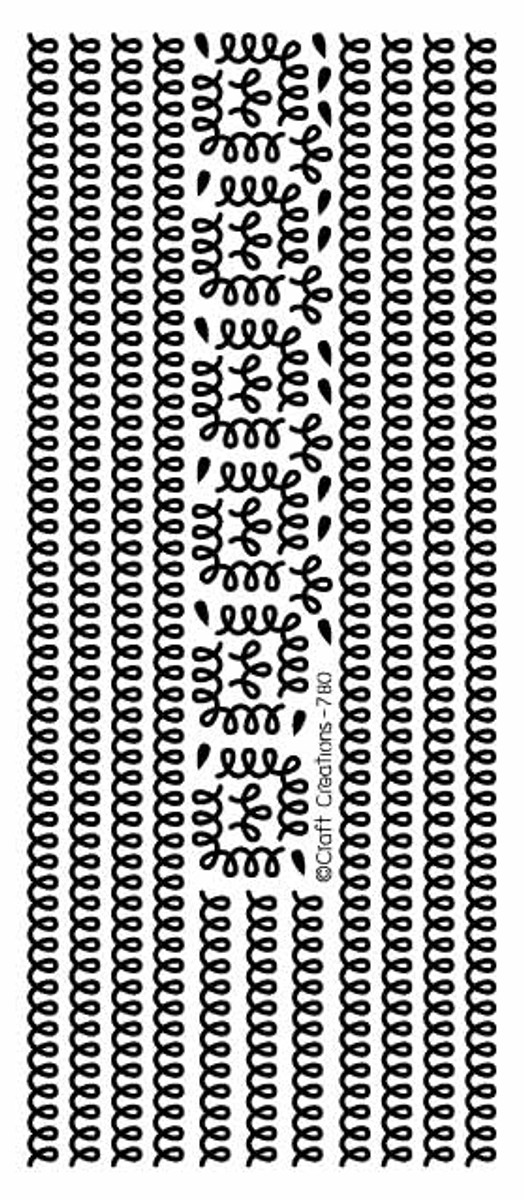 Craft Creations Peel-Off - Loopy Borders SILVER  780