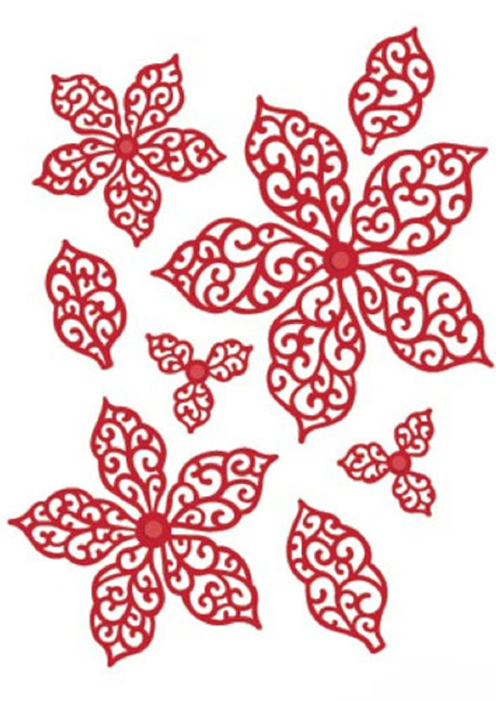 Sue Wilson - The Festive Collection - Filigree Poinsettia  Dies CED3010 - Pre-Order 15% Off