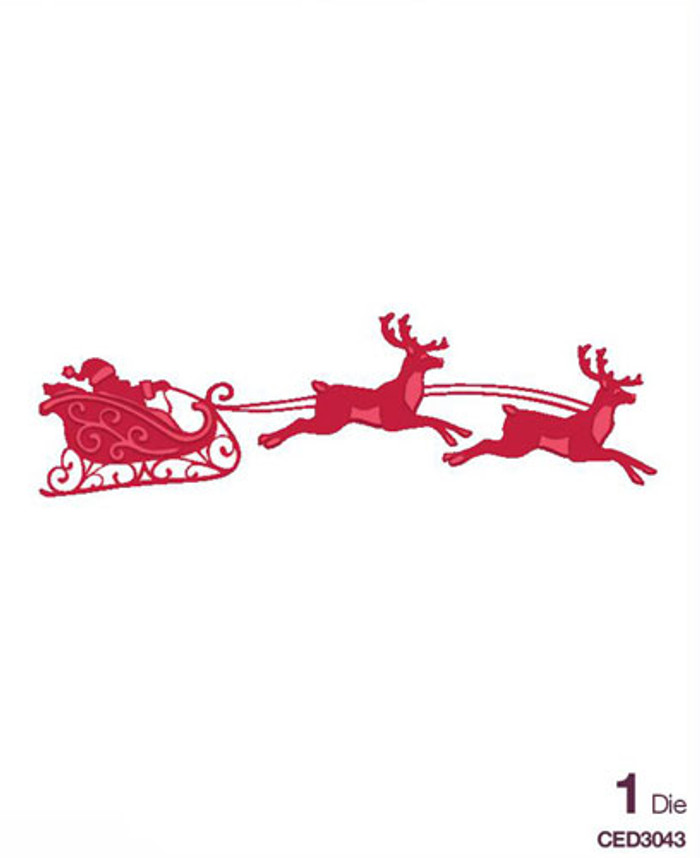 Sue Wilson - The Festive Collection - Santa's Sleigh Die CED3043 - Pre-Order 15% Off