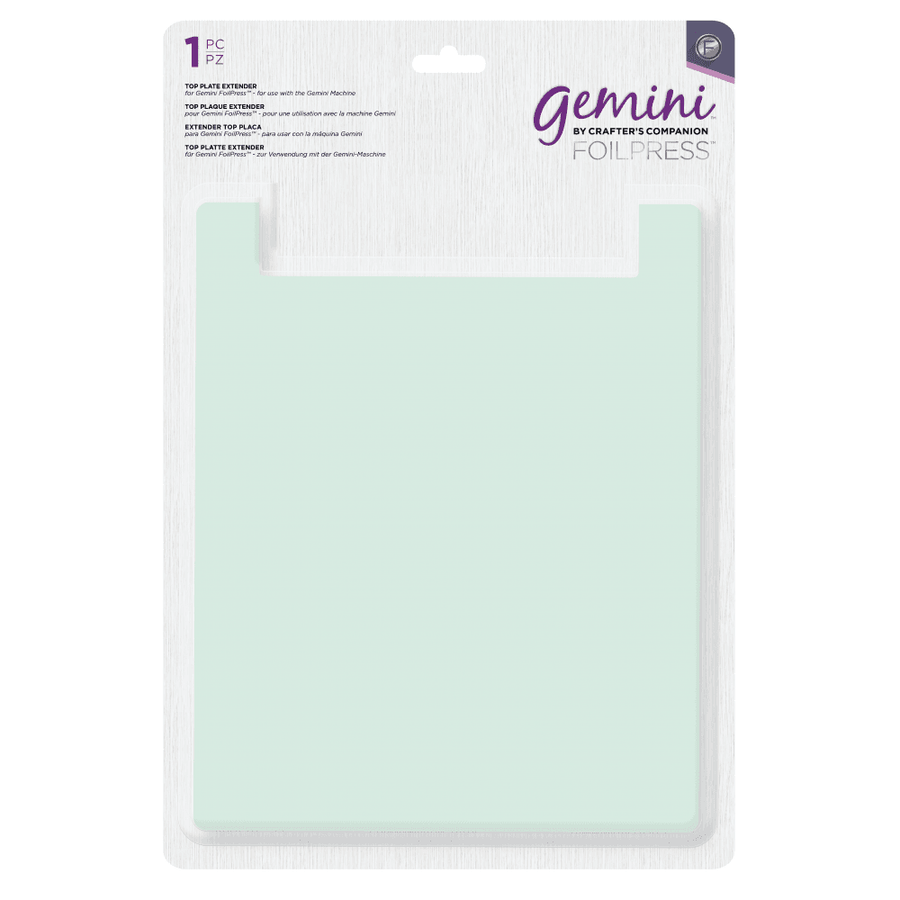 Crafter's Companion GEMINI Foilpress Machine - Top Plate Extender (1pc) - Pre-Order