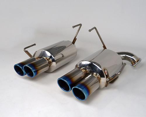 Agency Power Catback Exhaust System Titanium Quad Tips Subaru WRX/STi Sedan 2011-16