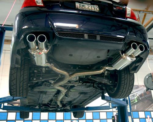Agency Power Catback Exhaust System Polished Quad Tips Subaru STi WRX Sedan 2011-15