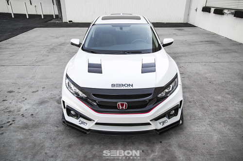 TS-STYLE CARBON FIBER HOOD FOR 2016-2020 HONDA CIVIC