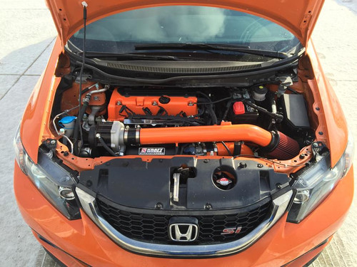 Need your kit customized, we do that here also.. This 2014 Civic Si really stands out with 110mm pulley on E85