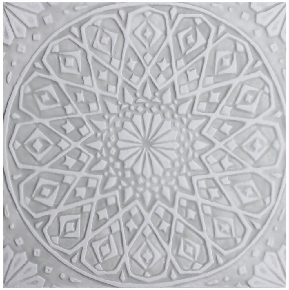 "Handmade Tiles Set4 Grey Moroccan [30cm/11.8""]"
