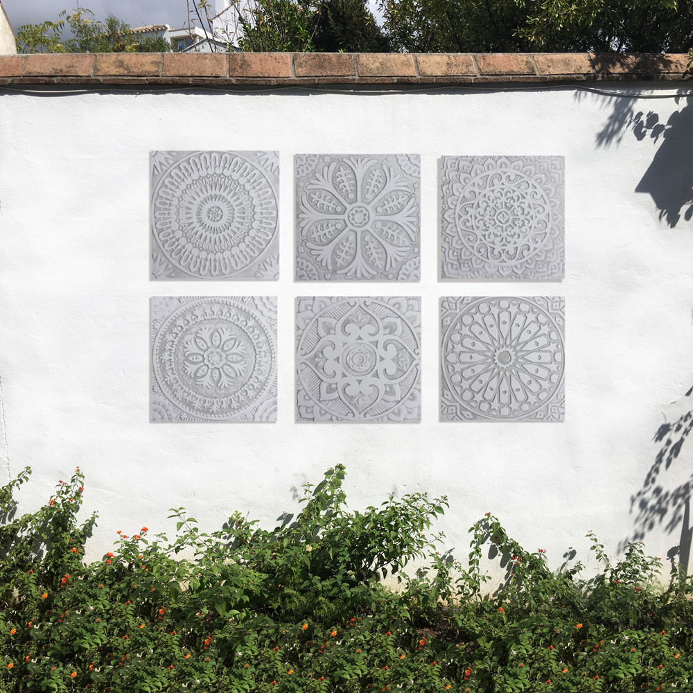 "Handmade Tiles Set8 Grey [30cm/11.8""]"