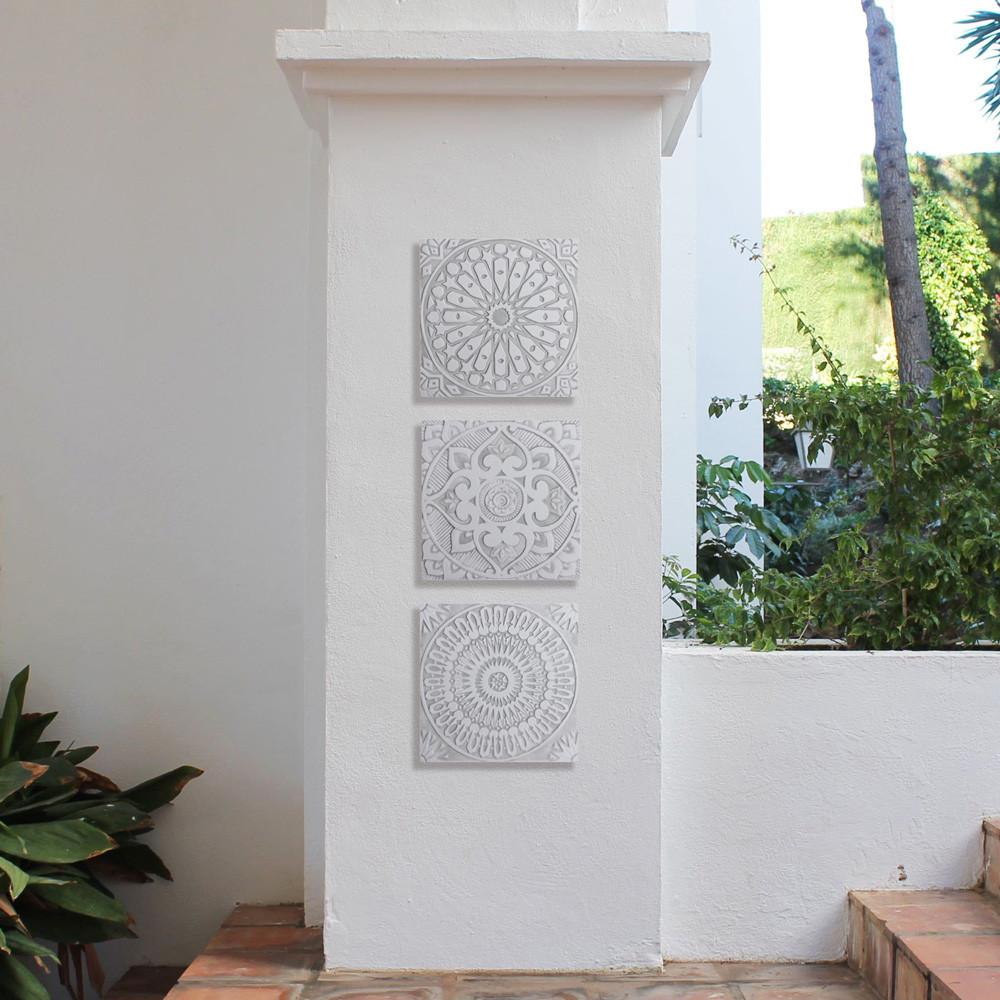 "Handmade Tiles Set9 Grey [30cm/11.8""]"