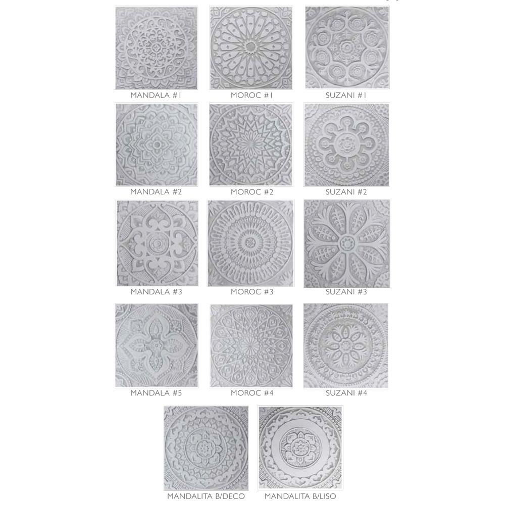 "Handmade Tiles Set10 Grey [30cm/11.8""]"