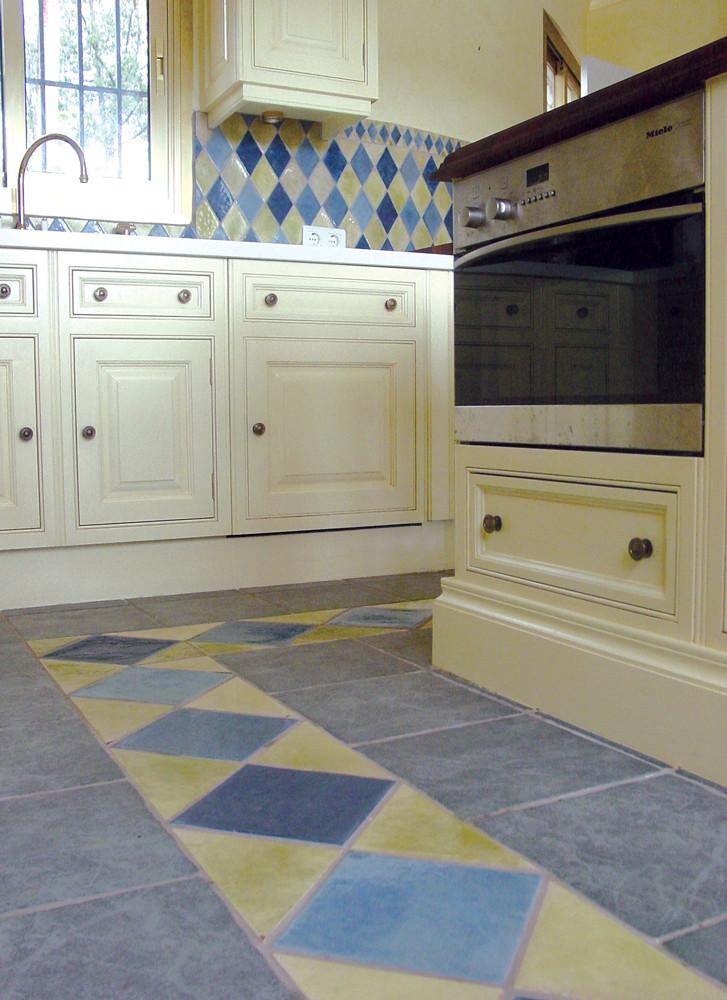Luxury floor tiles handmade in Spain.  Our handmade tiles are custom made.  Spanish tiles for bathrooms and kitchens.