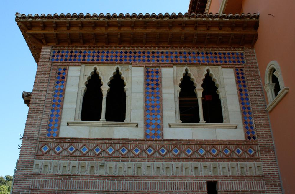 Custom handmade tiles to decorate exterior wall.