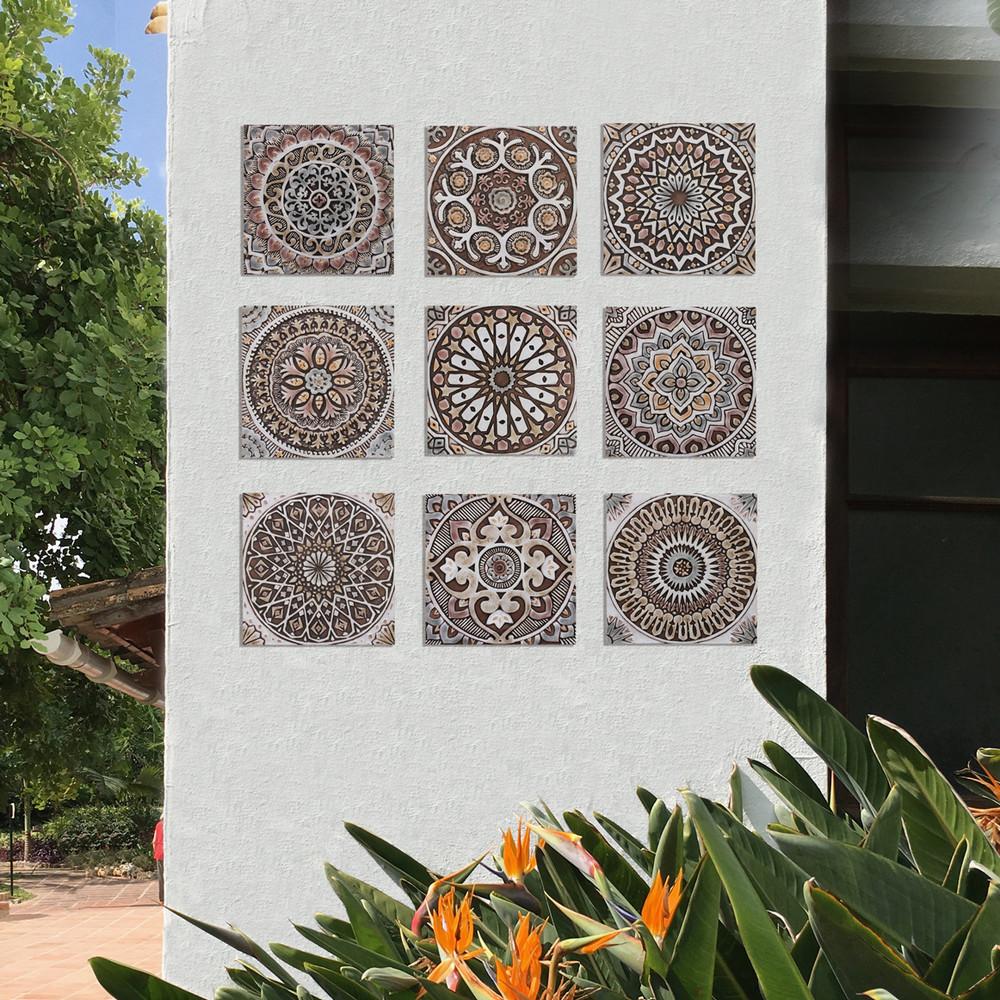 """Handmade Tiles Set12 matt brown [30cm/11.8""""]"""