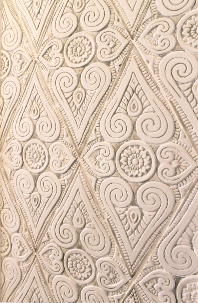 Handmade tiles bathroom Mandala diamonds