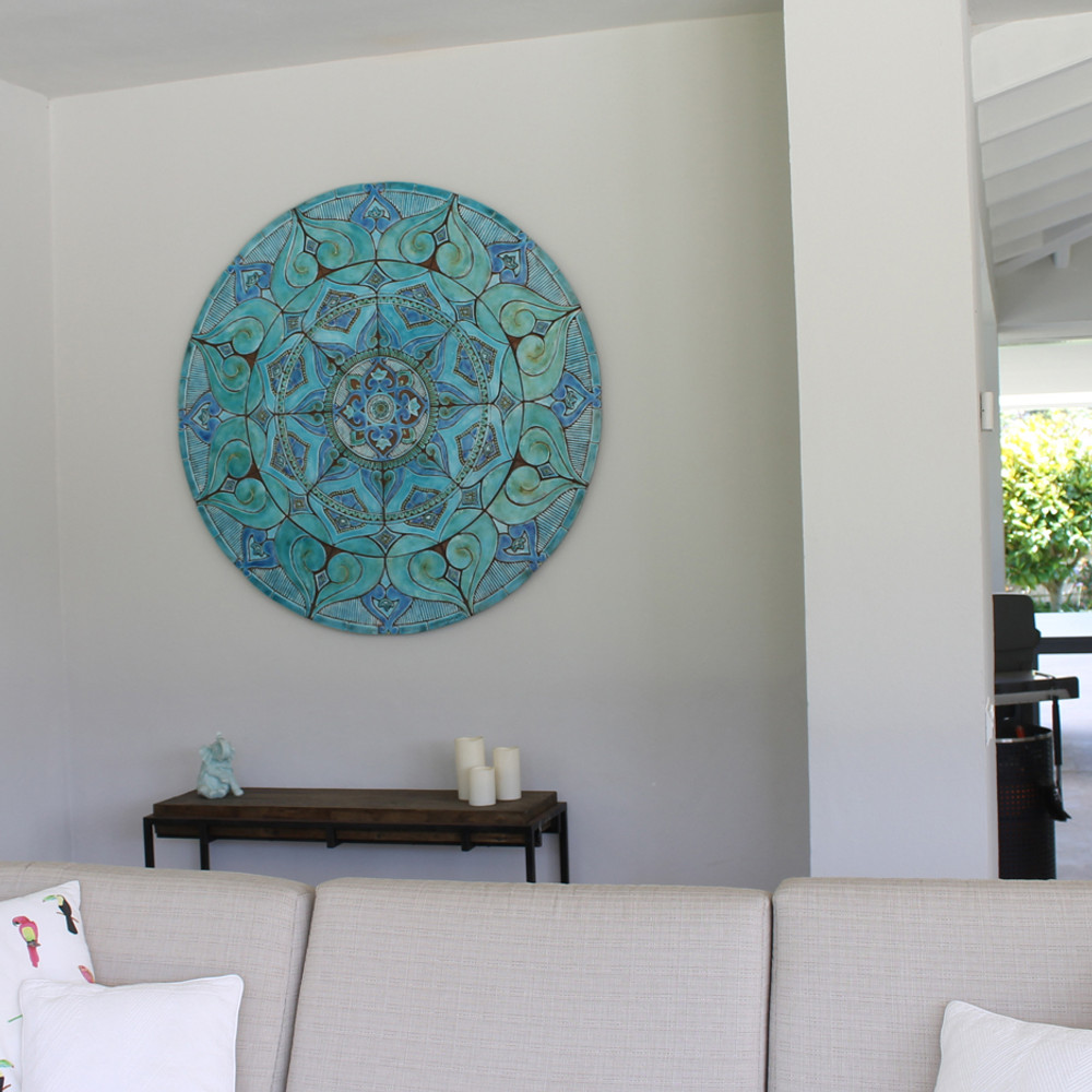 Our ceramic murals make stunning wall decor for homes and gardens.  Our tiles are handmade in Spain