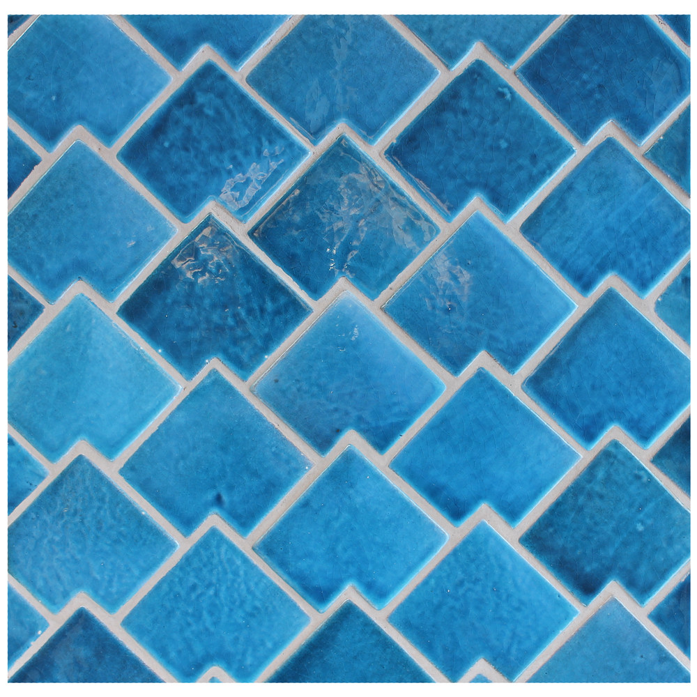 Handmade tiles abstract fishscale [8x8cm]