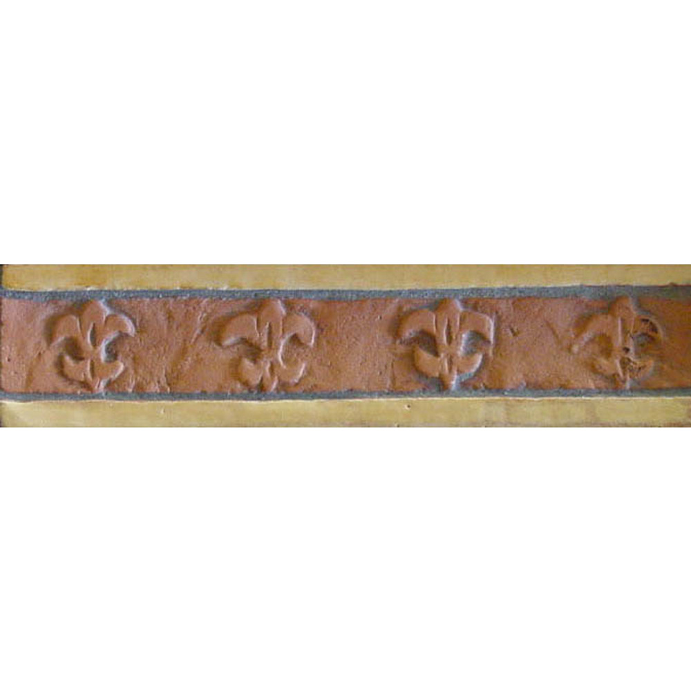 Decorative ceramic border for framing tiles.  Handmade tiles for kitchens and bathrooms.