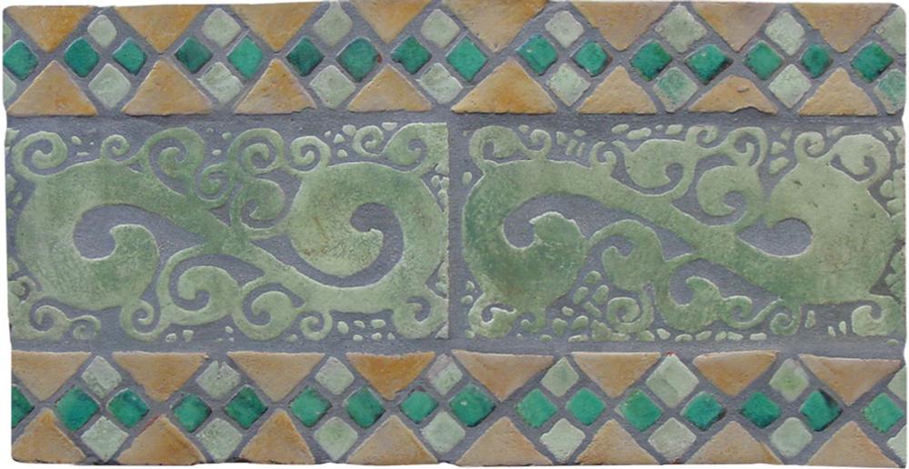 Hiedra & estanque handmade tiles