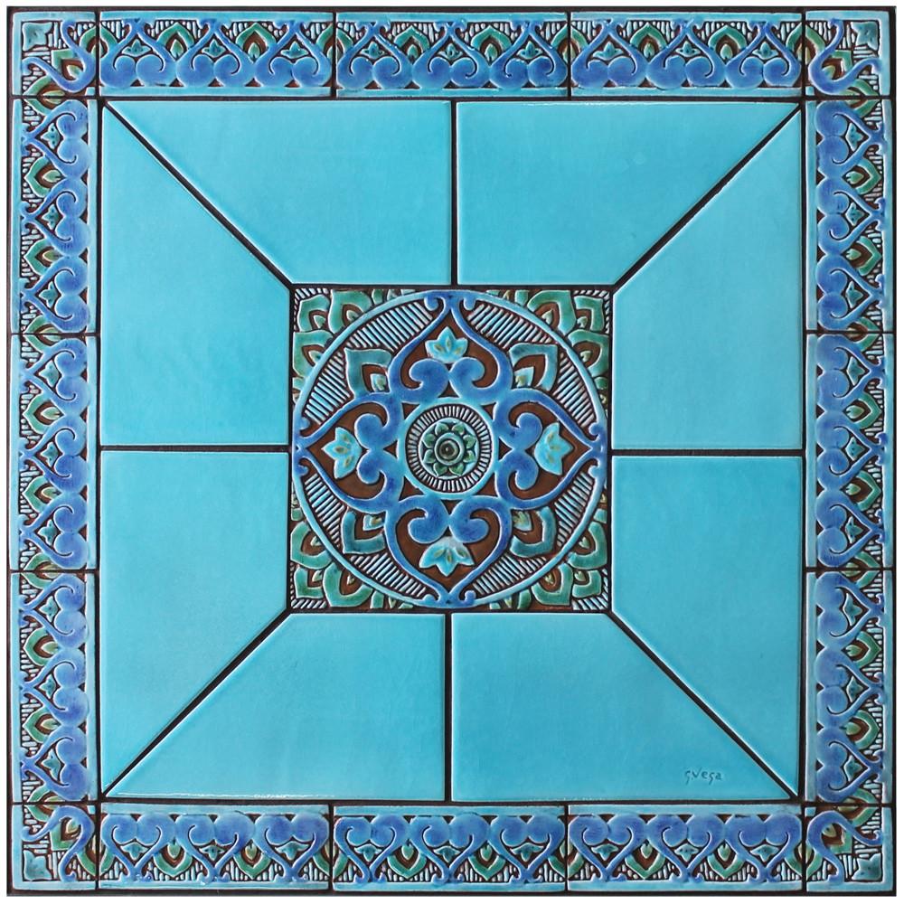 Handmade tile mosaic tabletop 15